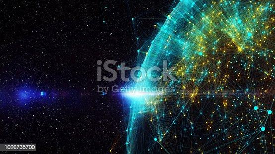 istock Block chain network 1026735700