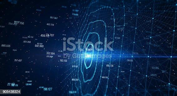 istock Block chain network 905438324