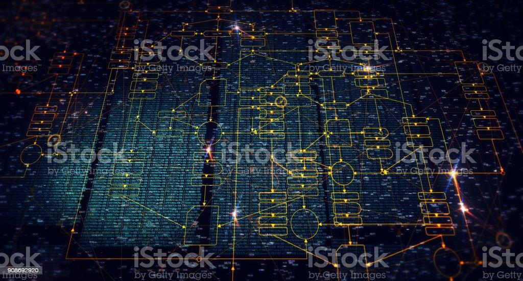 Block chain network stock photo