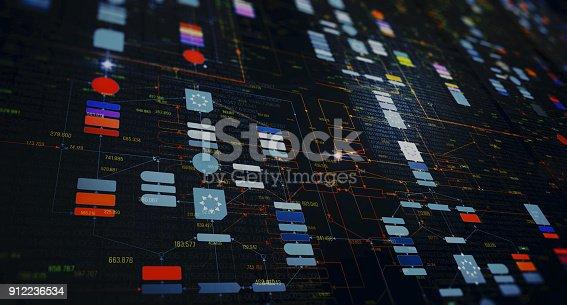 istock Block chain network 912236534