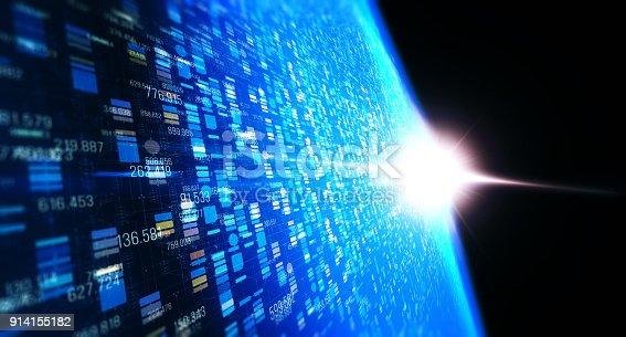 istock Block chain network 914155182