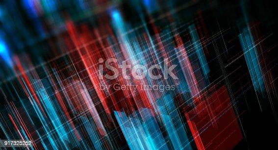 istock Block chain network 917325252