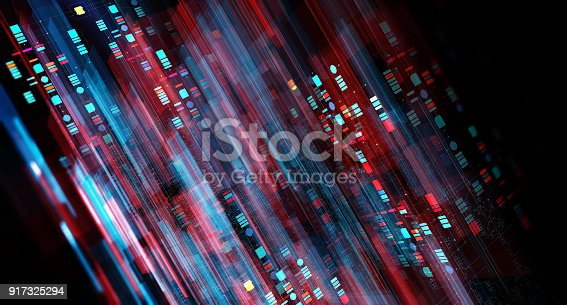 istock Block chain network 917325294
