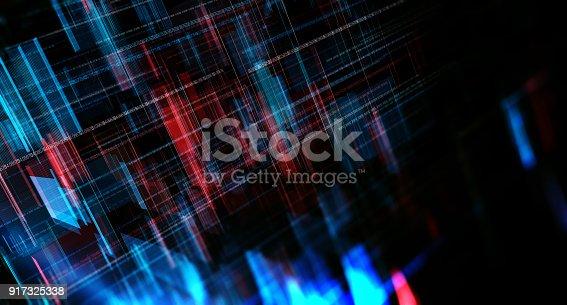 istock Block chain network 917325338