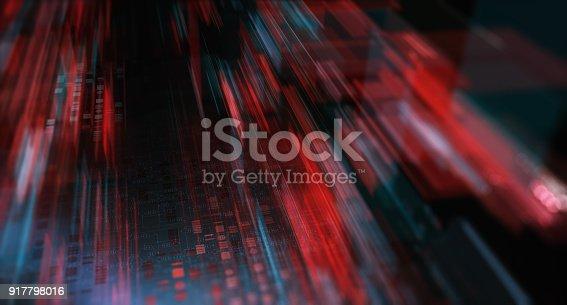 istock Block chain network 917798016