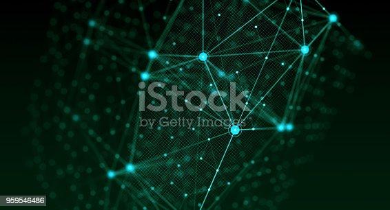 istock Block chain network 959546486