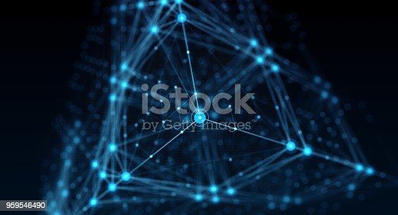 istock Block chain network 959546490