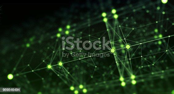 istock Block chain network 959546494