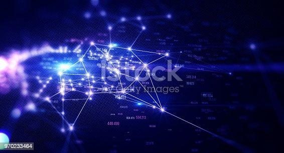 istock Block chain network 970233464