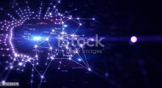 istock Block chain network 970233476