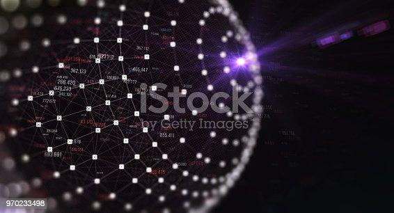 istock Block chain network 970233498