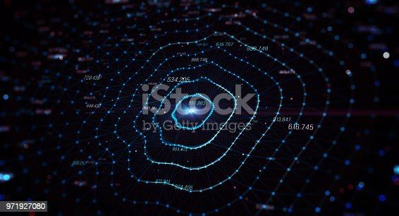 istock Block chain network 971927080