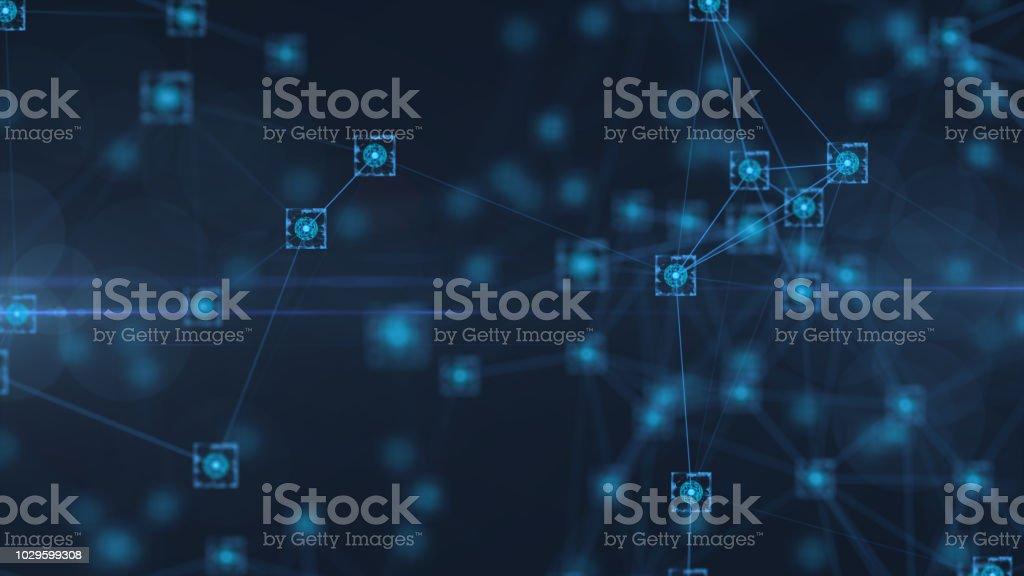 Block chain stock photo