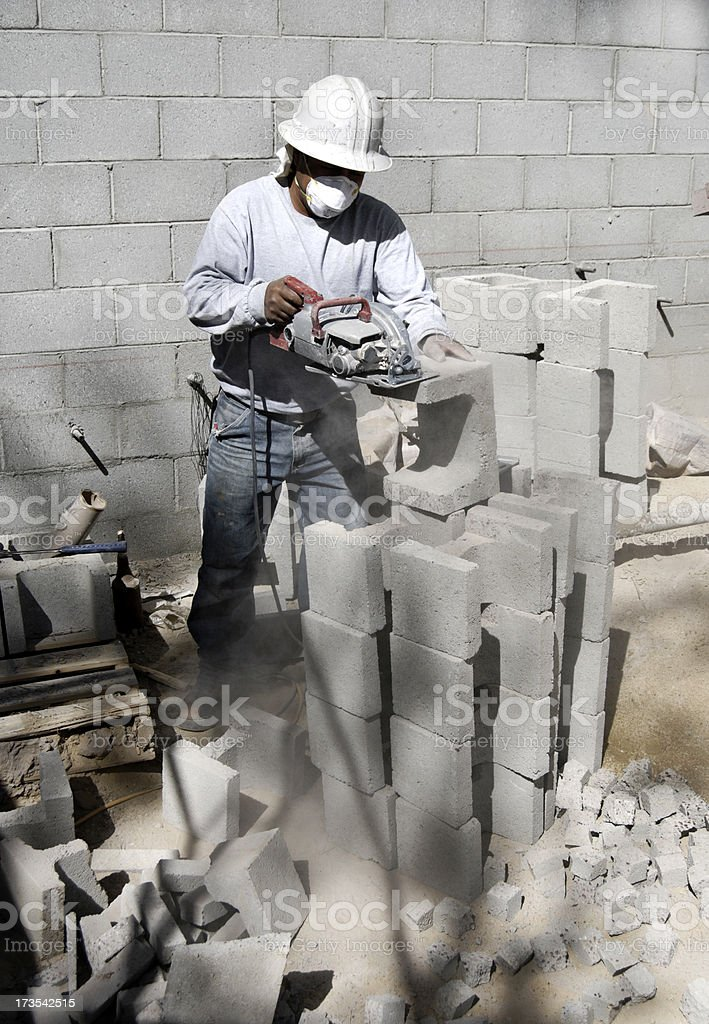 Block cutting stock photo