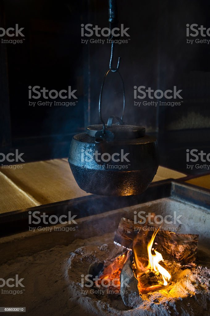 Block furnace or traditional Japanese architecture stock photo