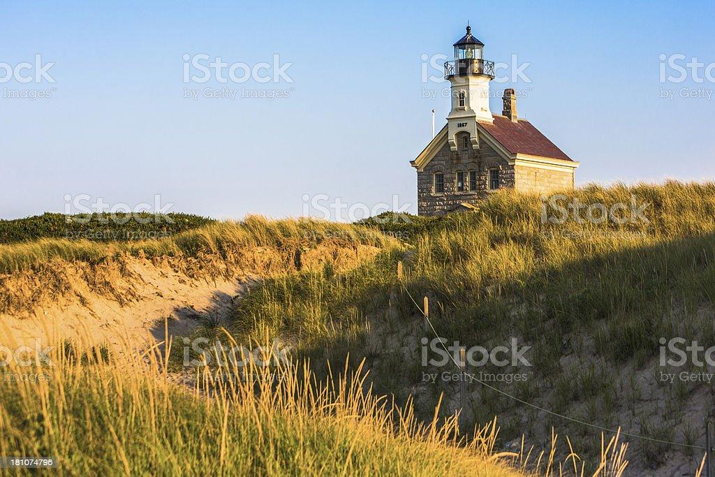 Block Island North Lighthouse stock photo