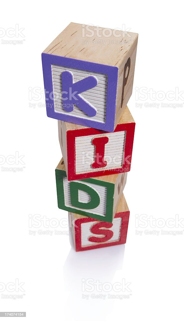 block kids royalty-free stock photo