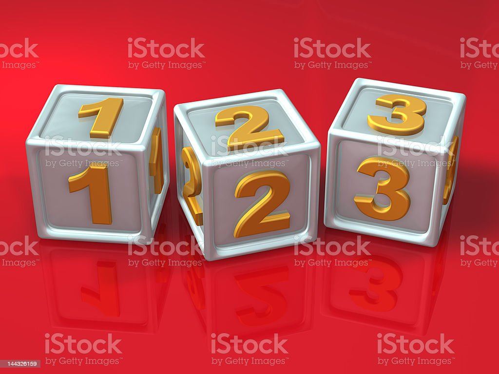 block letters - 3d concept illustration stock photo