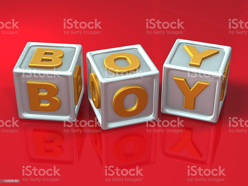 block letters - 3d concept illustration royalty-free stock photo