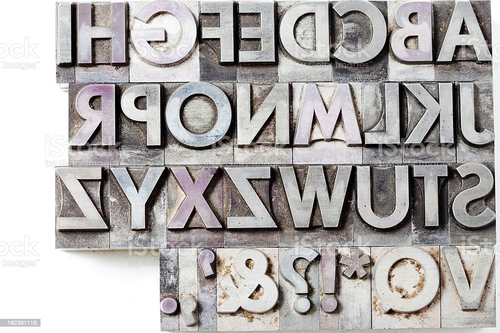 block letters isolated on white royalty-free stock photo