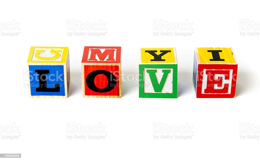 Block Letters- Love royalty-free stock photo