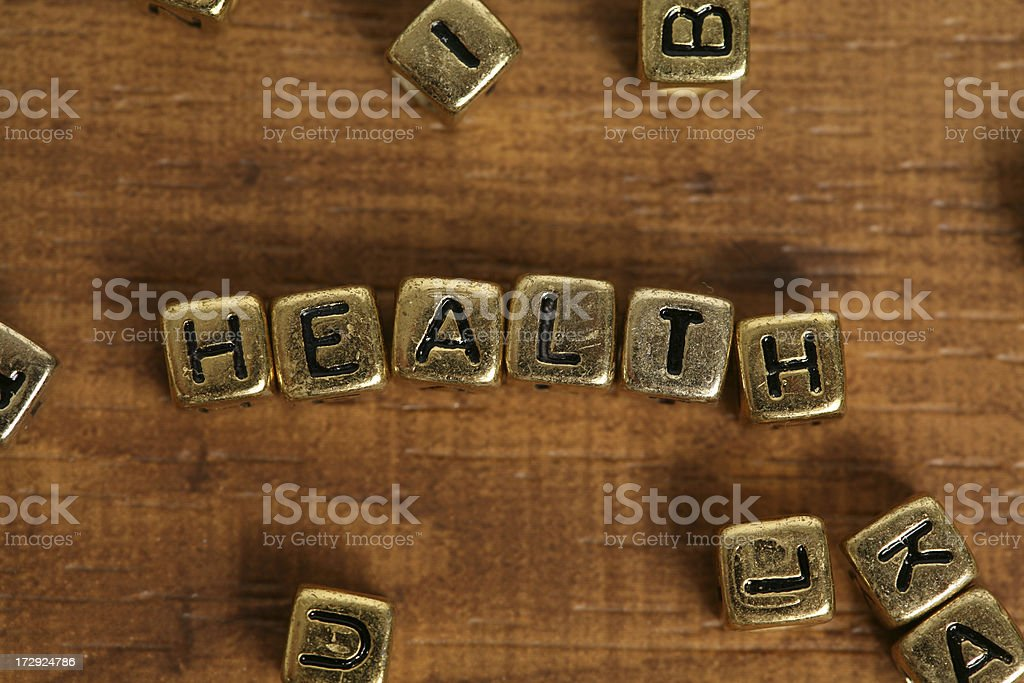 Block letters (health) royalty-free stock photo