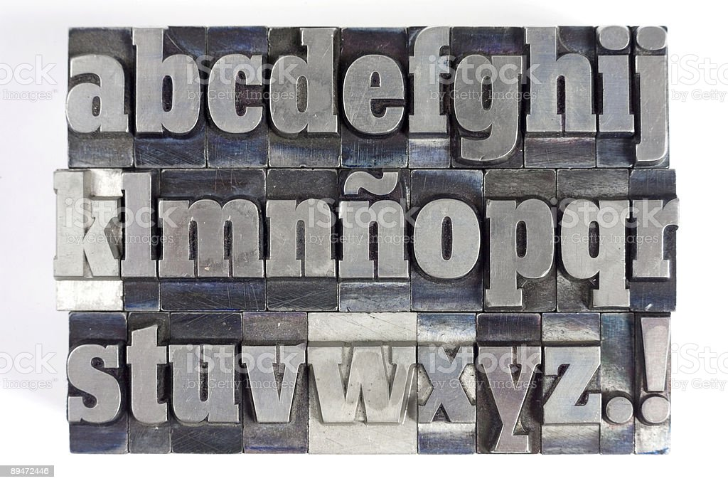 Block letters stock photo