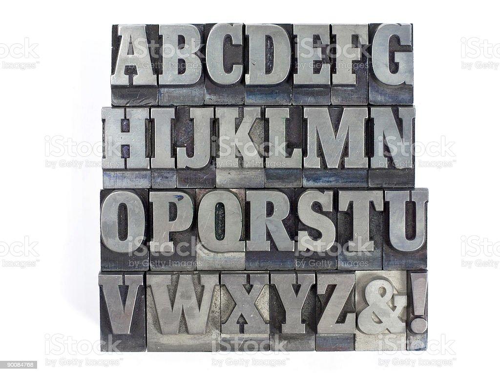 Block letters stock photo
