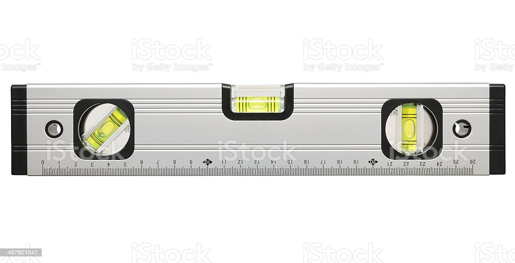 Block level indicator in three directions on white background stock photo
