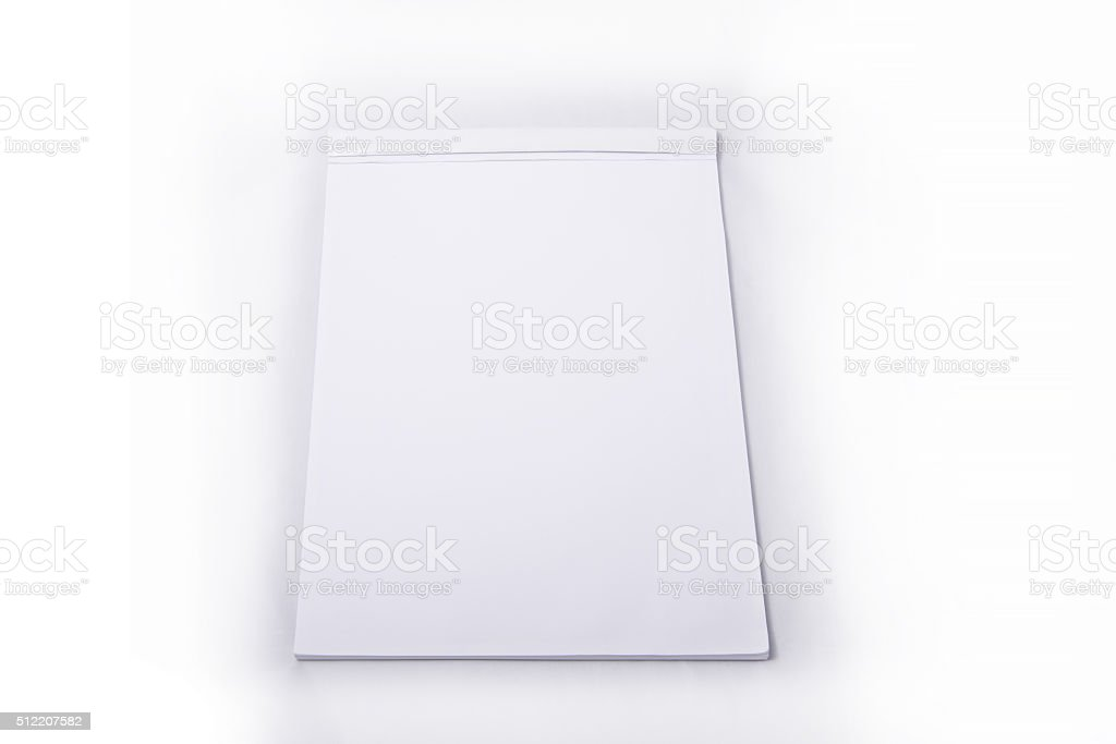 Block notes - white page stock photo