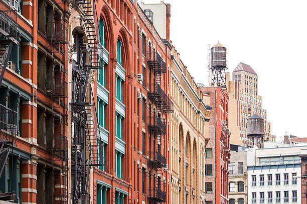Block of buildings in Soho Manhattan, New York City stok fotoğrafı