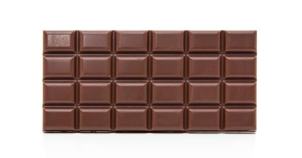 Block of chocolate stock photo
