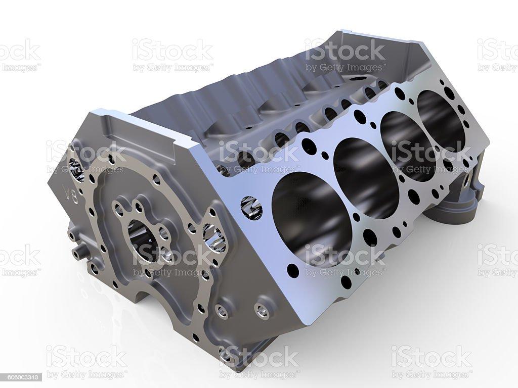 Block of cylinders 3D render stock photo