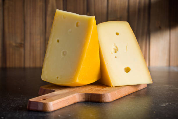 block of edam cheese stock photo