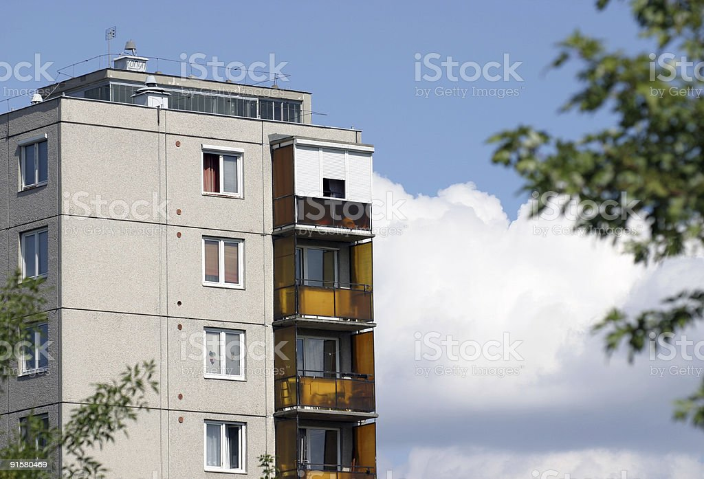 block Of Flat royalty-free stock photo