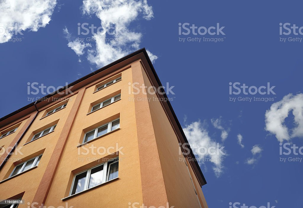 Block of flats - apartment building royalty-free stock photo