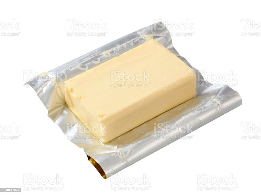 Block of fresh butter royalty-free stock photo