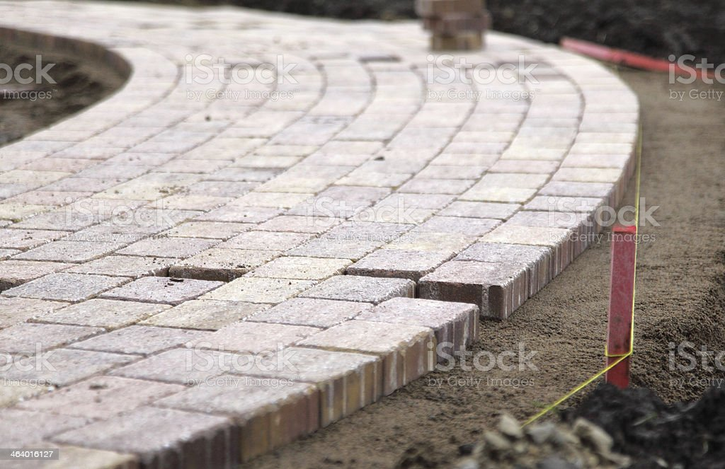 block paved path stock photo