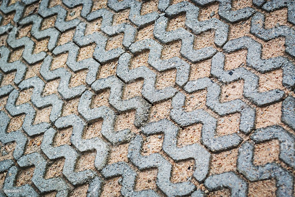 Block paving being layed ground place stock photo