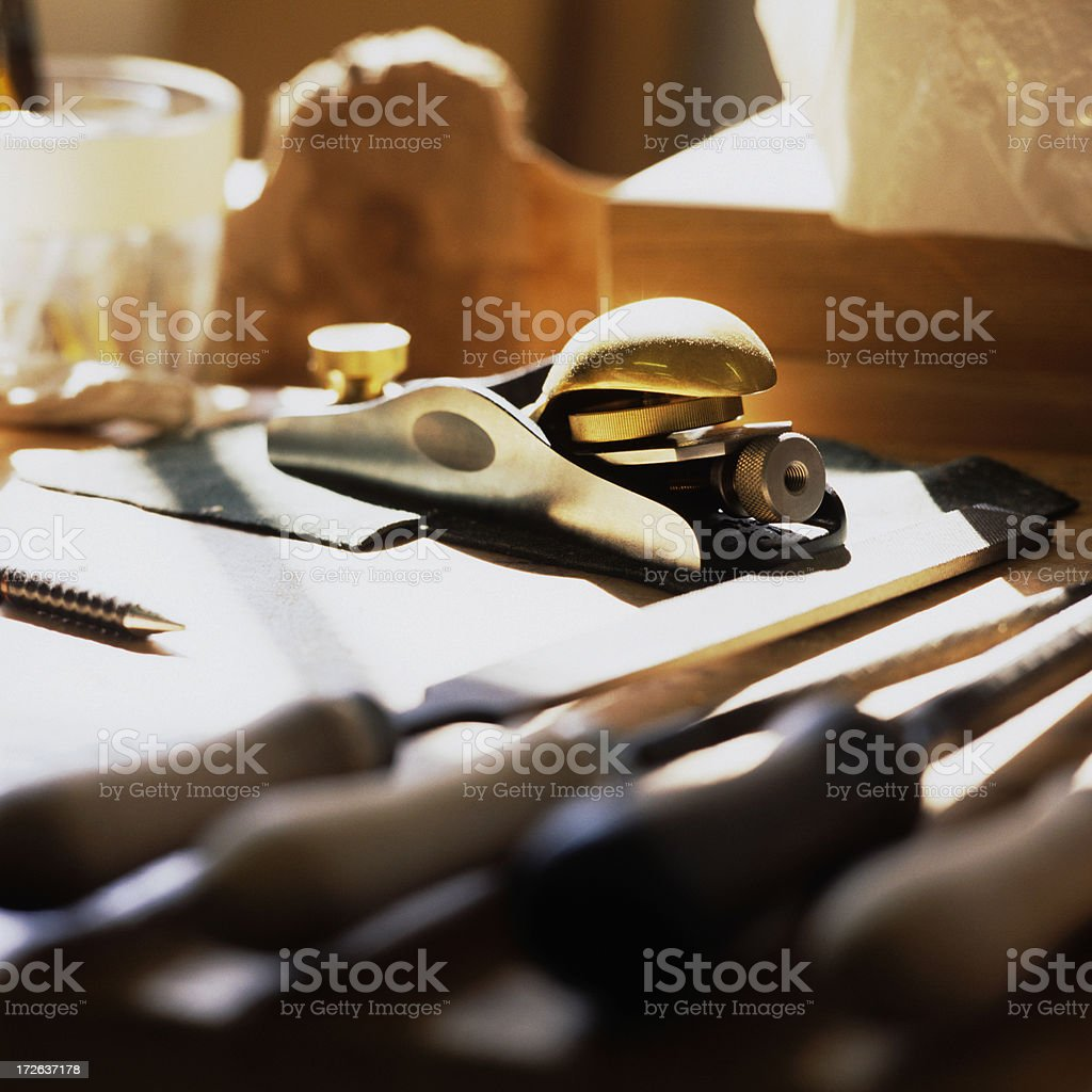Block Plane in Sunlight royalty-free stock photo