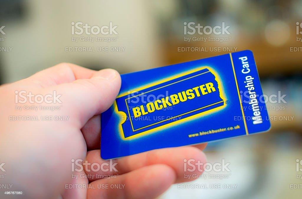 Blockbuster Card stock photo