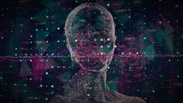 blockchain artificial intelligence stock photo