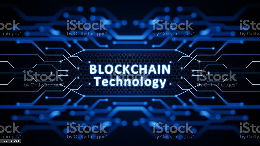 Concepto de blockchain - foto de stock