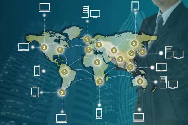Blockchain concept stock photo