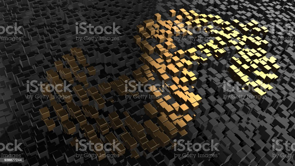 Blockchain crypto currency digital encryption network for world money stock photo