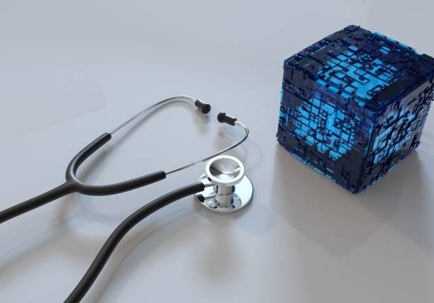 Blockchain Healthcare Technology Concept stock photo