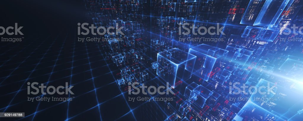 Blockchain stock photo