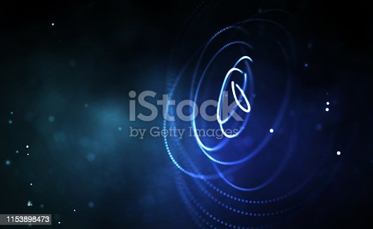 istock Blockchain technology background. Cryptocurrency fintech block chain network and programming concept. Abstract Segwit. 1153898473