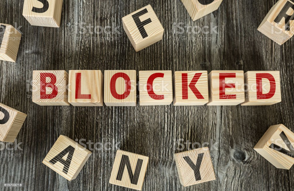 Blocked stock photo