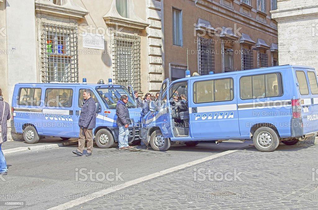 Blocked street royalty-free stock photo